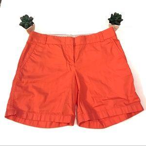 J Crew coral Chino shorts